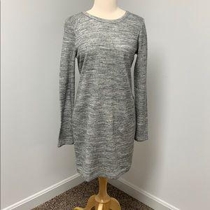 Lou & Grey Cotton Heathered Grey Dress